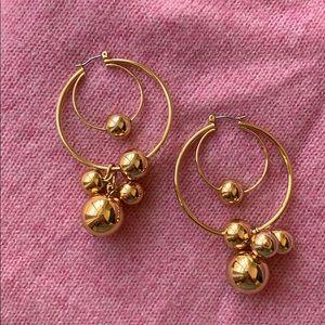J. Crew hoop earrings